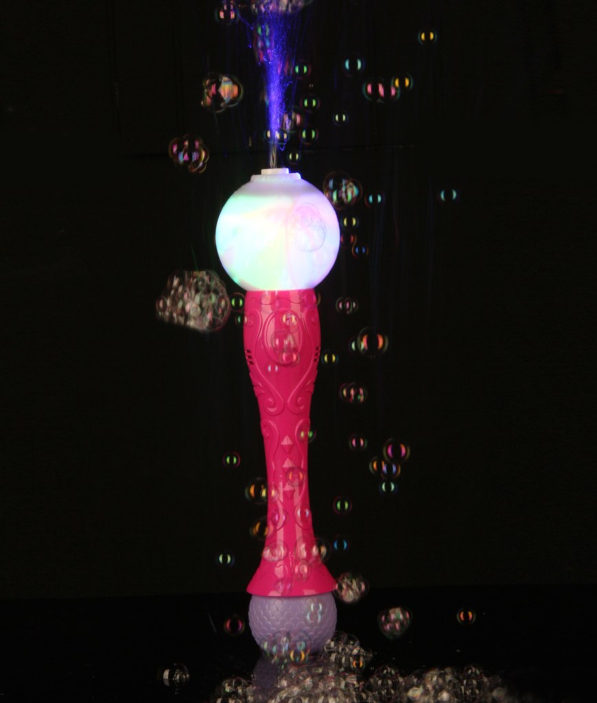 Fun Central BC818 LED Light Up Bubble Blaster Wand - Pink