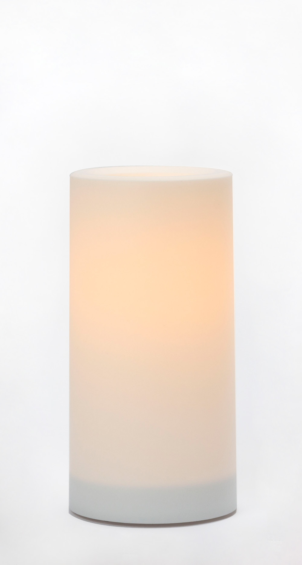 8x4 Inch Flameless Outdoor Pillar Candle with Timer - White