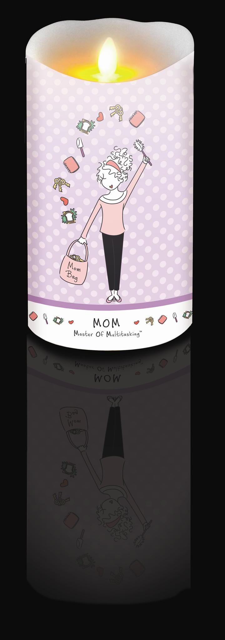 7 Inch Philosophie Luminara Candle - Mom