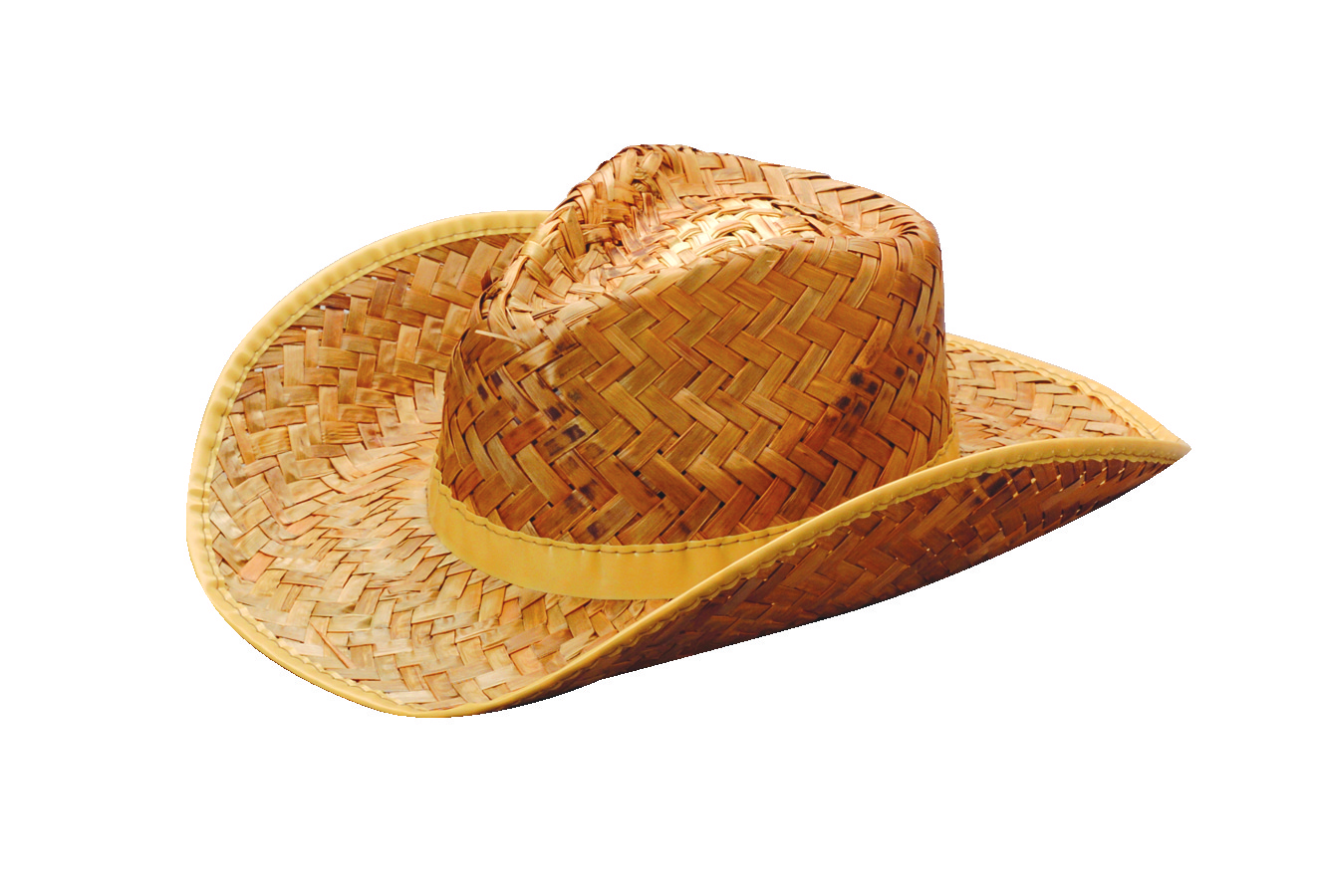 Woven Straw Rolled Cowboy Hat