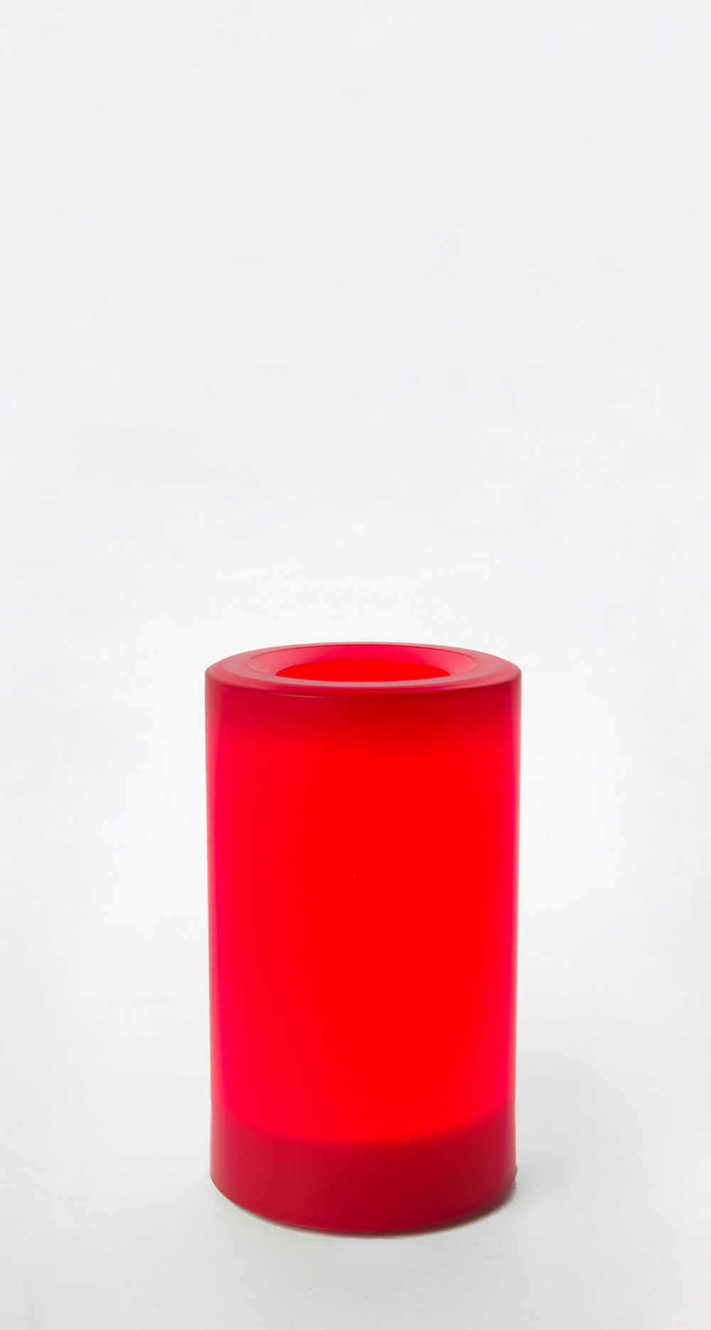 5 Inch Flameless Outdoor Pillar Candle with Timer - Red