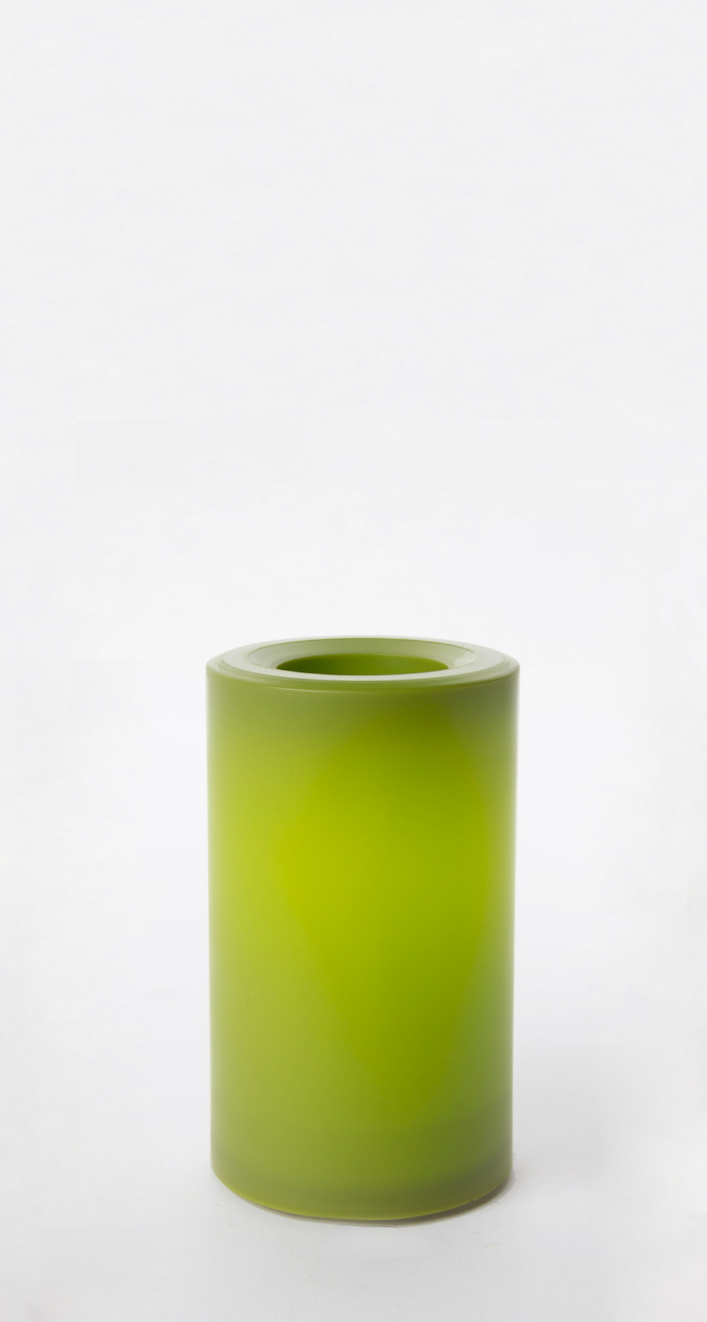 5 Inch Flameless Outdoor Pillar Candle with Timer - Green