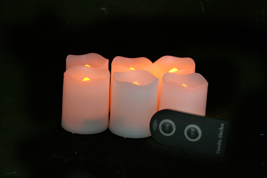 2 Inch Flameless Timer Votive Candles - White - 6 Pack