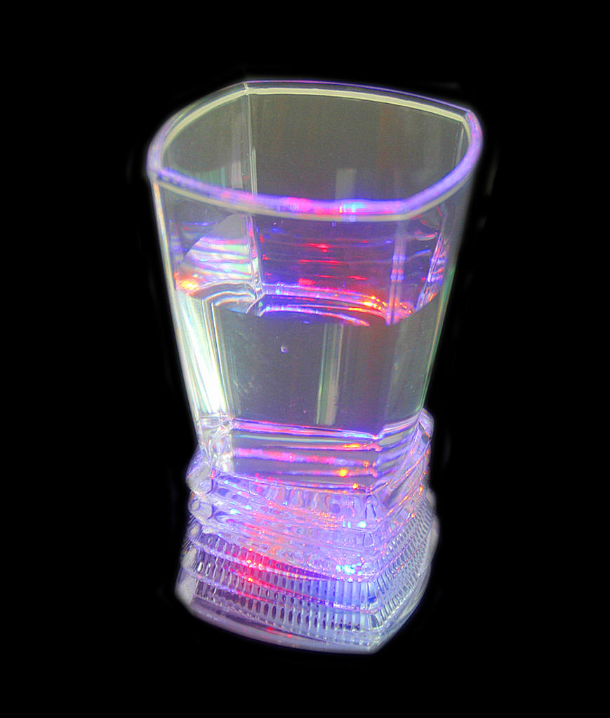 LED Light Up Square Fruit Juice Cup - 9 oz
