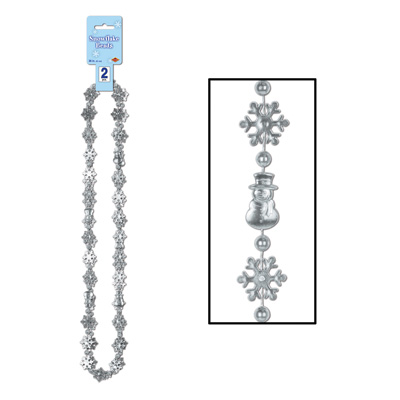 Snowflake Beads 36in