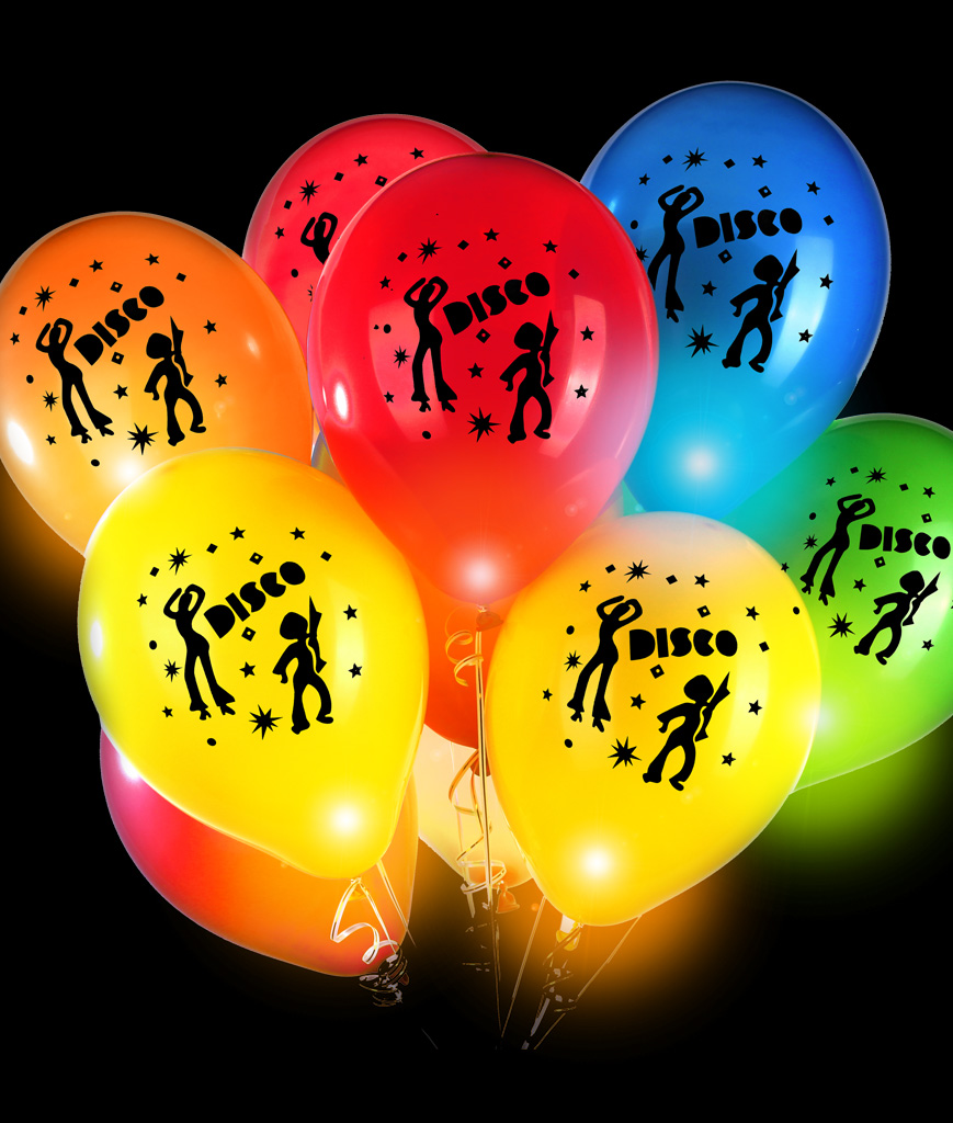 LED 14 Inch Blinky Balloons Disco - Assorted