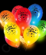 LED 14 Inch Blinky Balloons Happy Birthday - Assorted