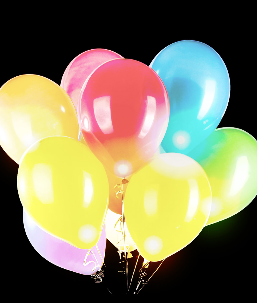 LED 14 Inch Blinky Balloons - 50ct - Multicolor