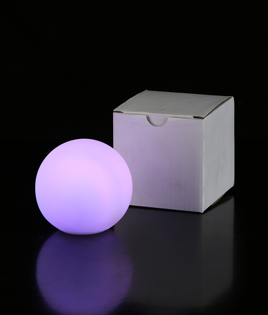 Fun Central I532 LED Light Up Color-Morphing Ball Mood Light - 3 Inch