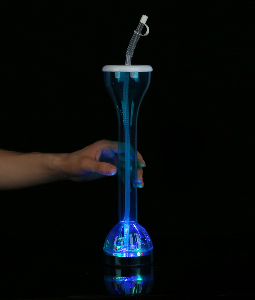 Fun Central V313 LED Light Up Drinking Bottle with Straw - Blue
