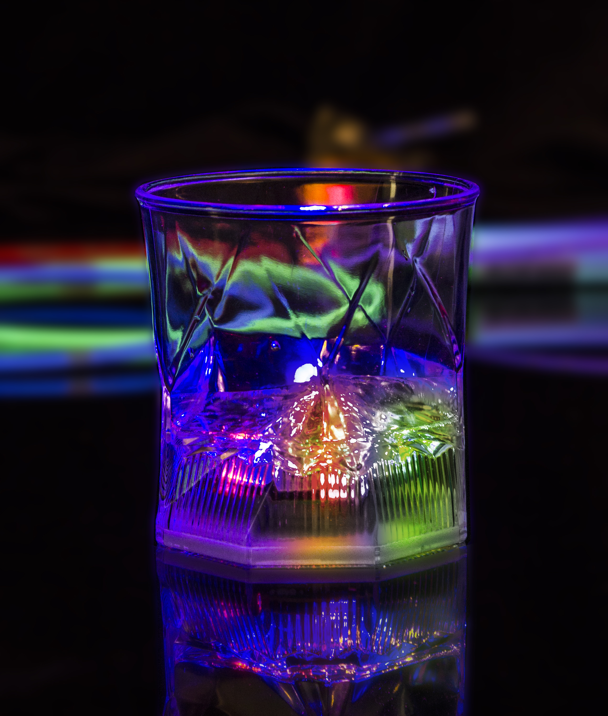 LED Light Up Cube Cup - 10 oz