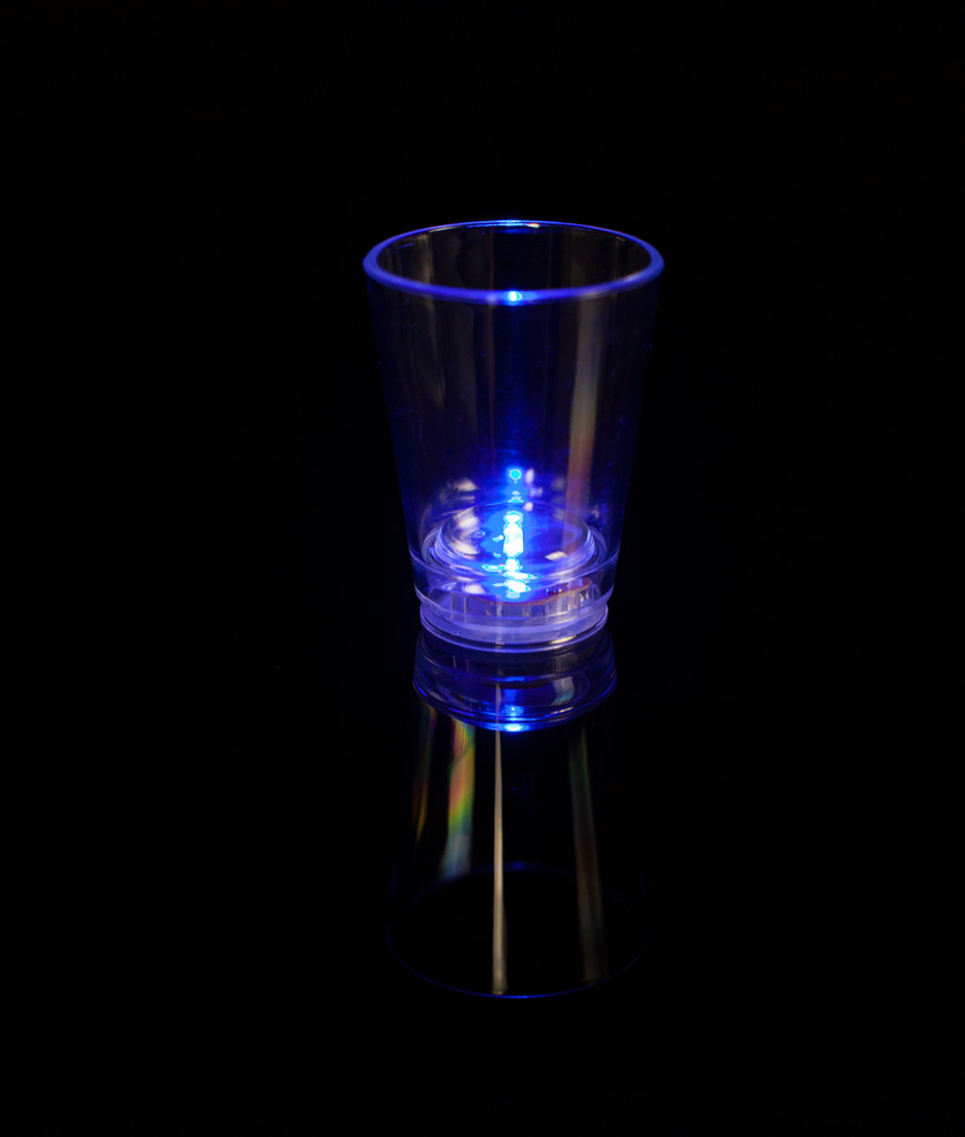Fun Central AU059 LED Light Up 2oz Shot Glass - Blue