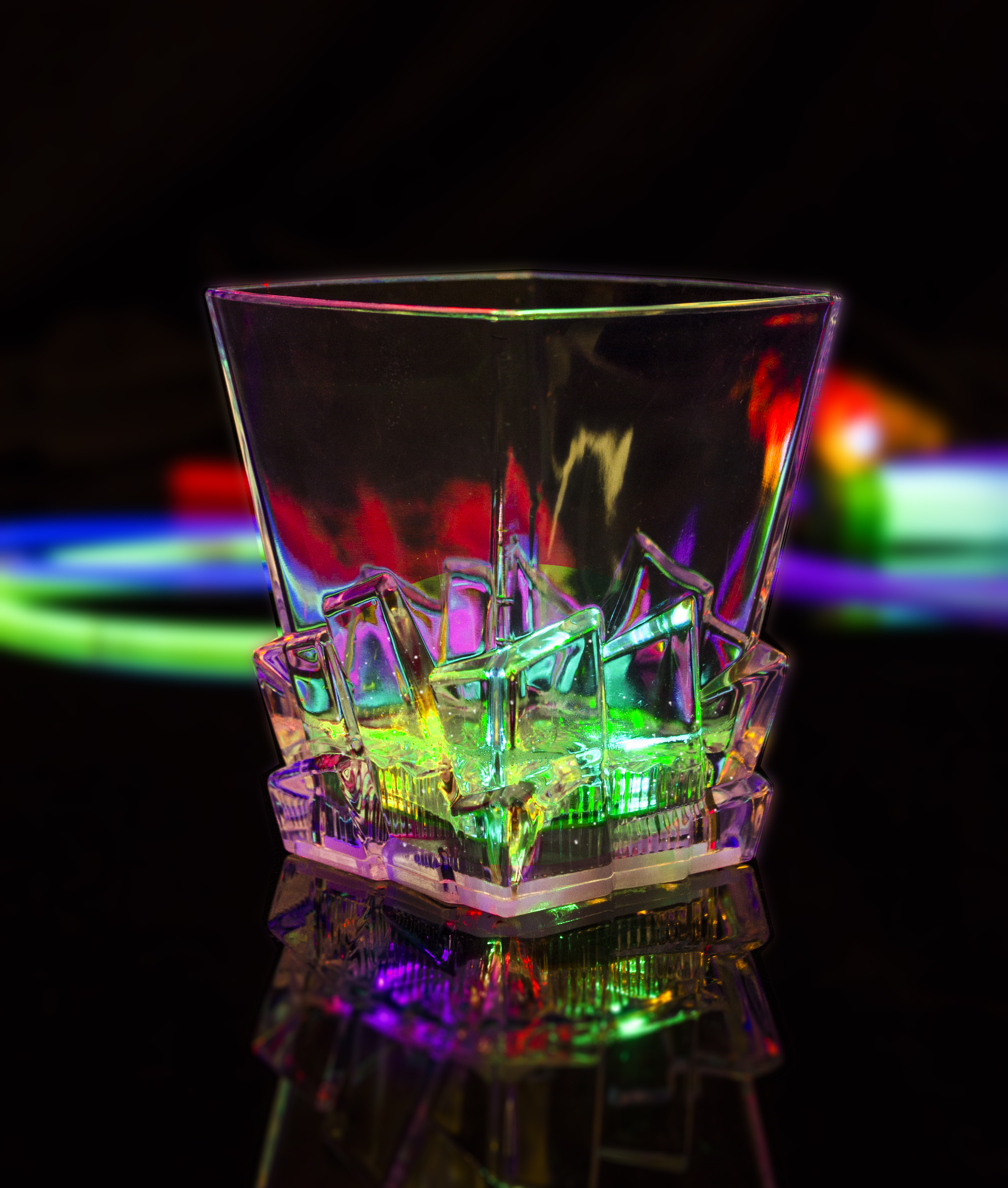 LED Light Up Whiskey Ice Cup - 10.5 oz