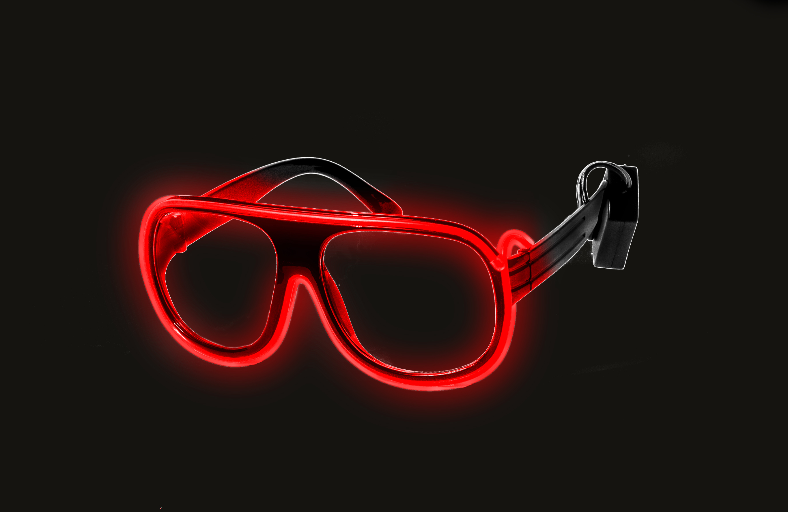 EL Aviator Glasses Black Frame - Red