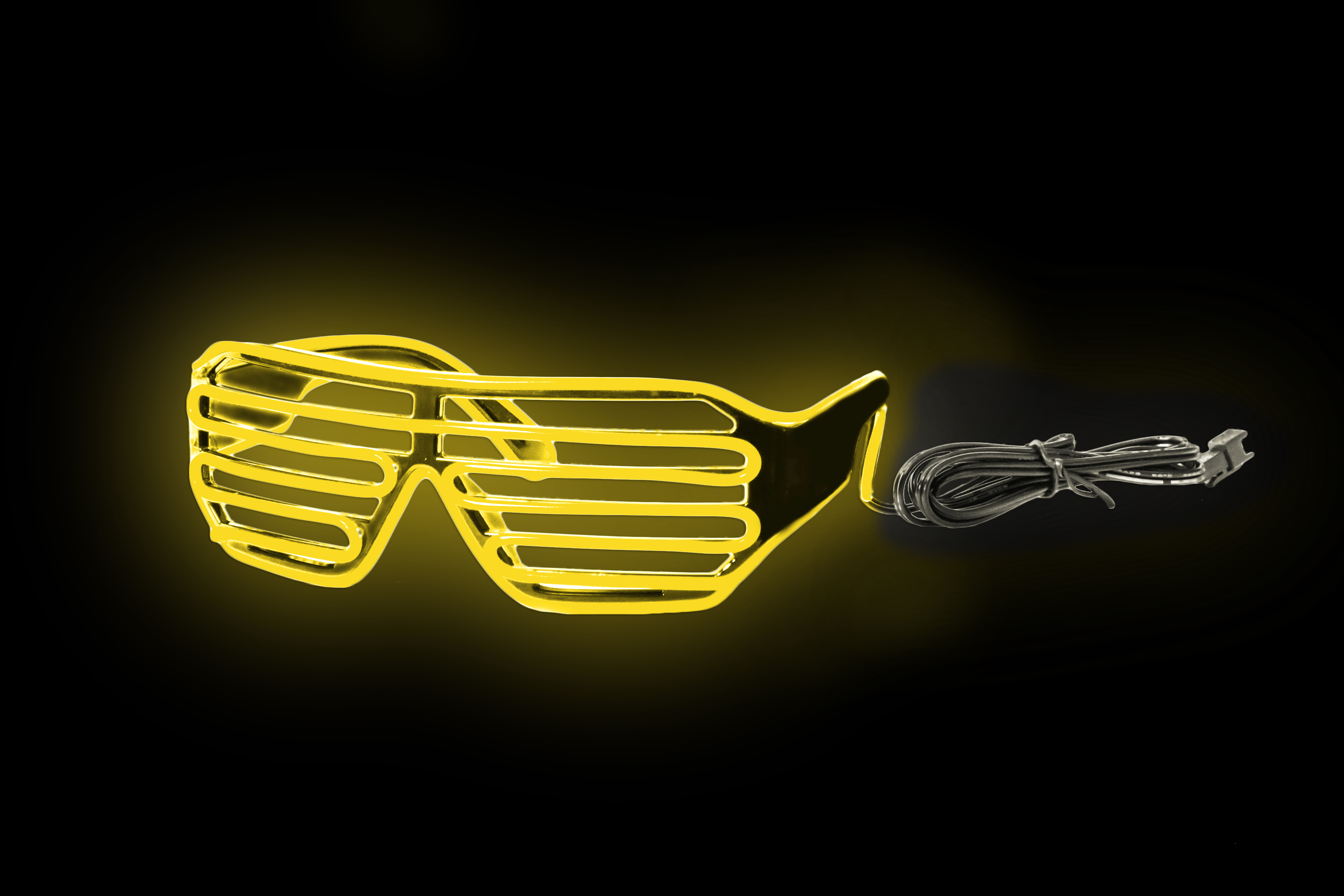 EL Slotted Shades Black Frame - Yellow