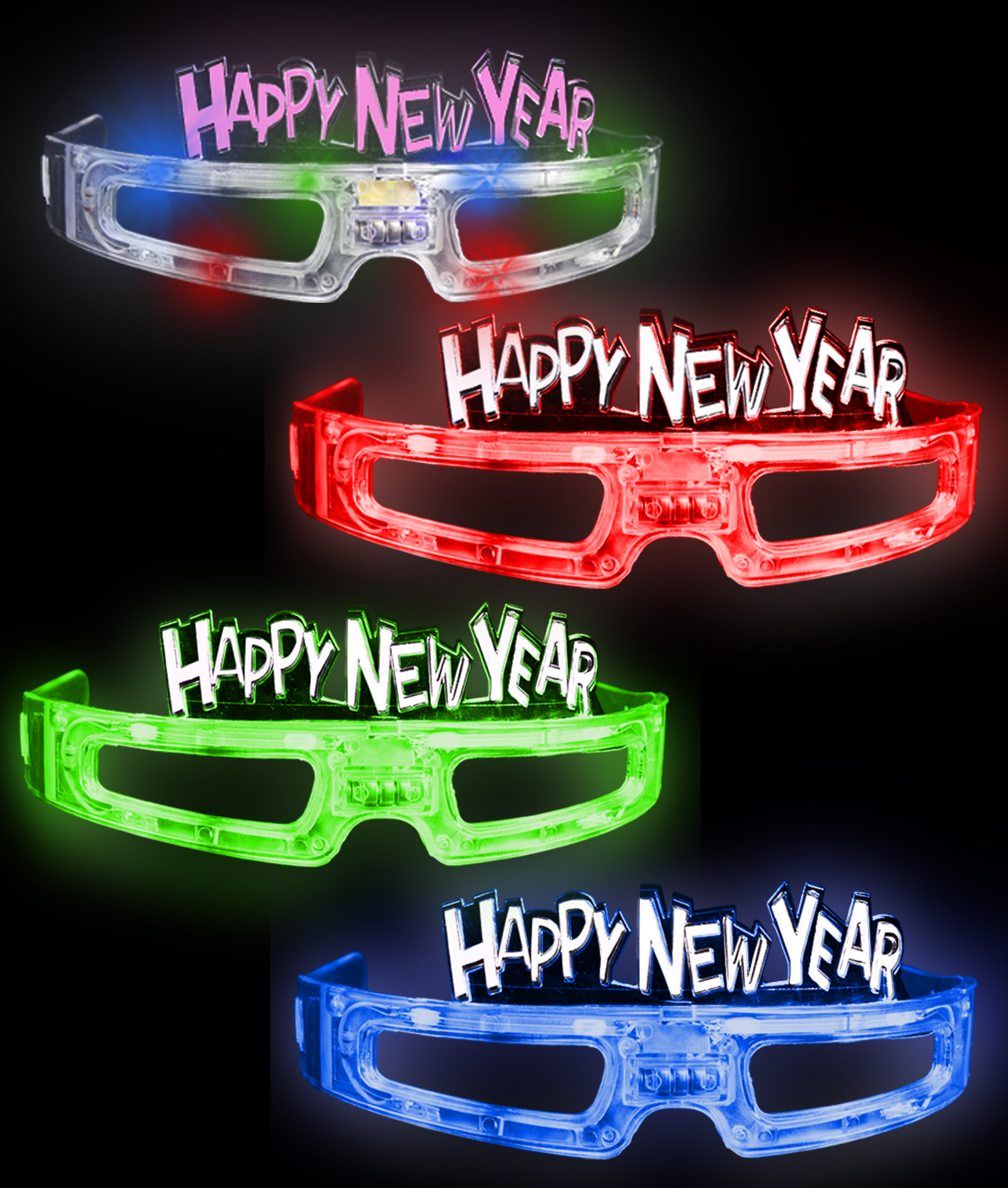 LED Happy New Year Eye Glasses