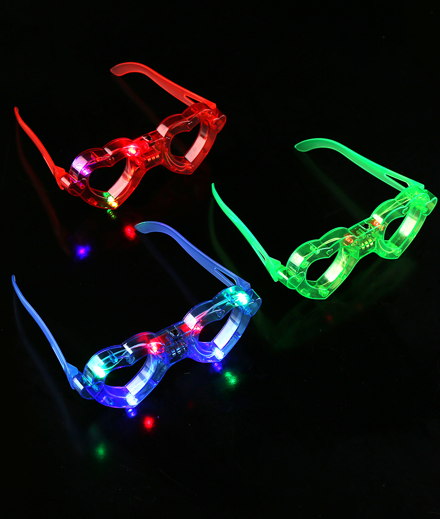 Fun Central M861 LED Light Up Heart Eyeglasses- Assortment