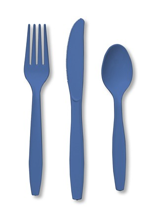 True Blue Assorted Premium Plastic Cutlery
