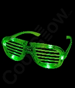 LED Shutter Slotted Shades - Green