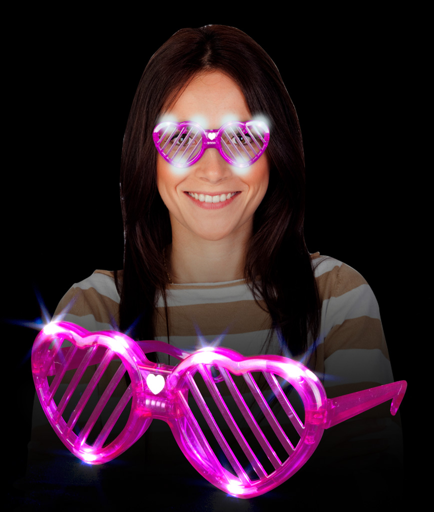 LED Heart Slotted Shades