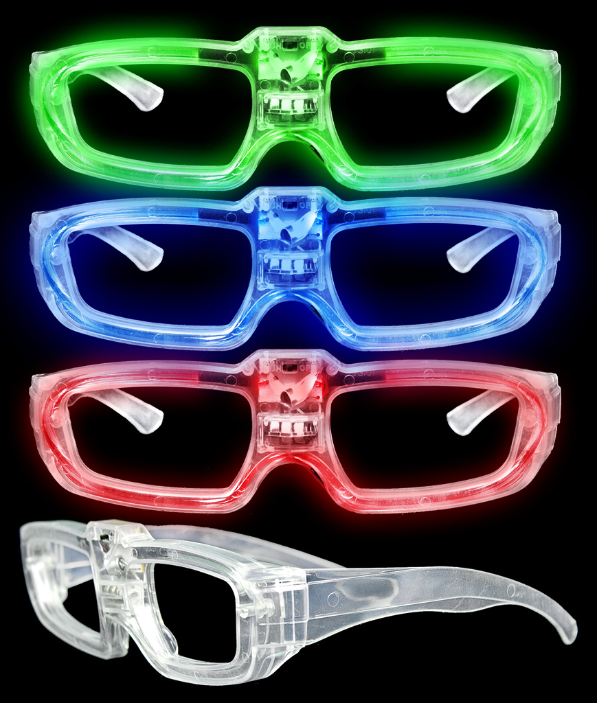 Fun Central AT675 LED Light Up Sound Activated Eye Glasses- Assorted