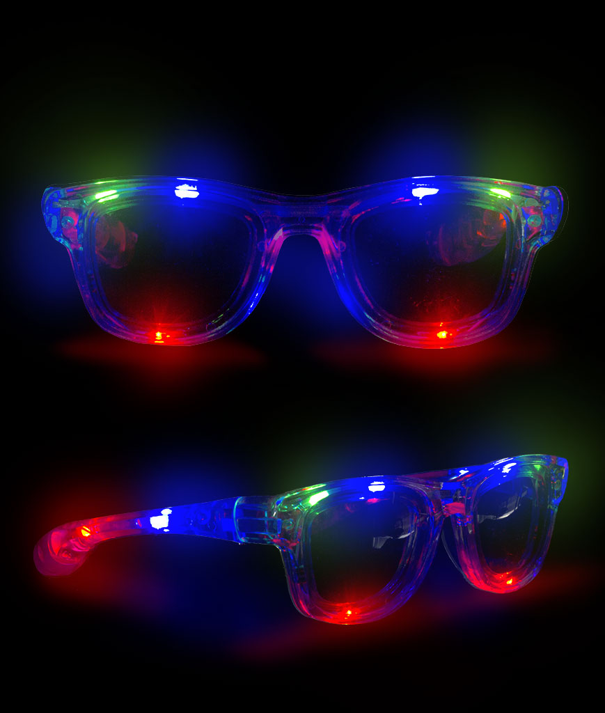 LED Square Framed Sunglasses