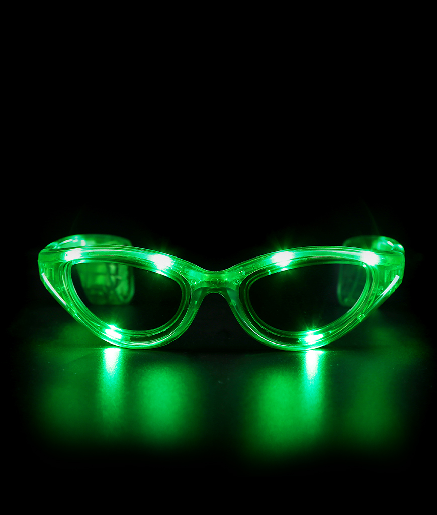 Fun Central I451 LED Light Up Sunglasses - Green