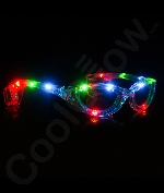 Fun Central I446 LED Light Up Sunglasses - Multicolor