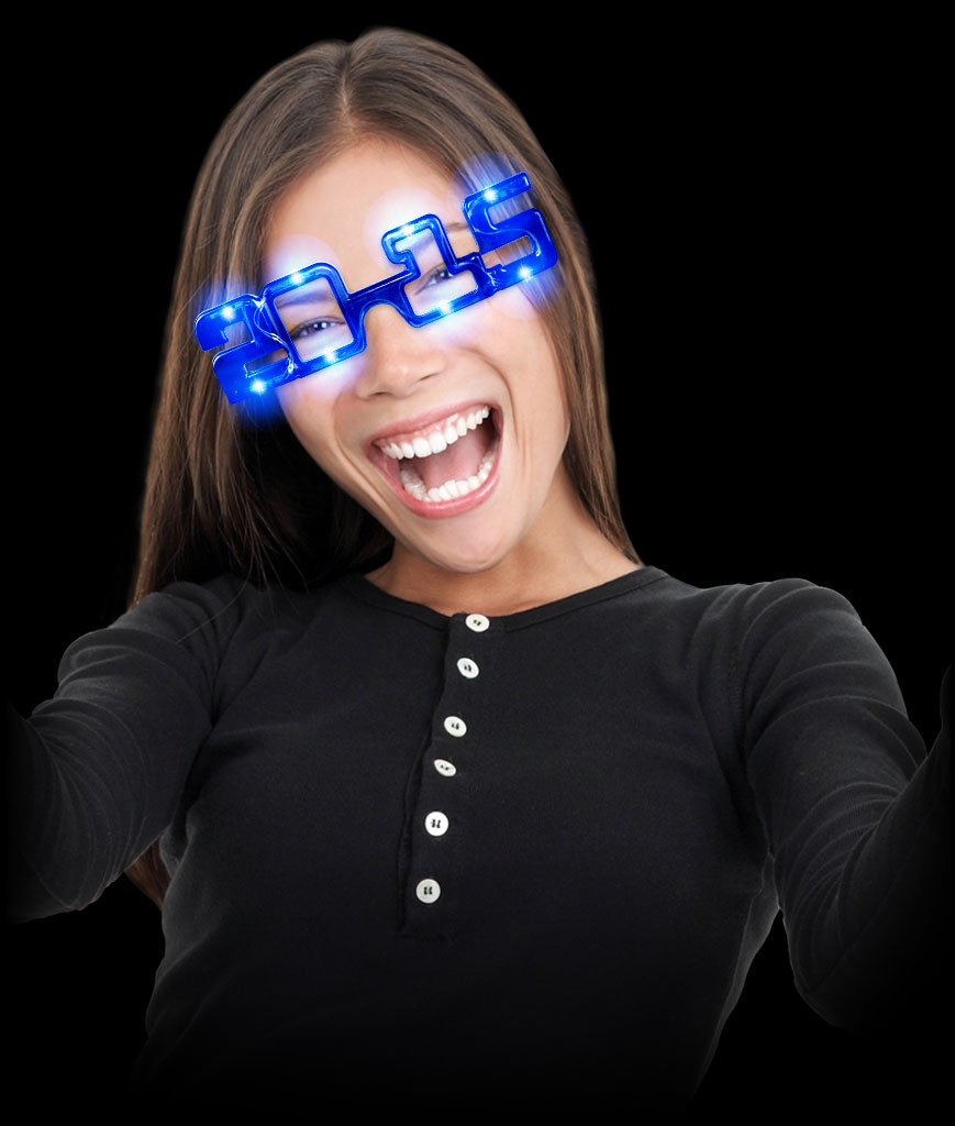 LED 2015 Eye Glasses - Blue