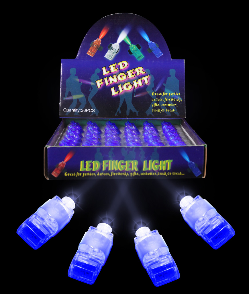 LED Finger Lights - Blue 3dz
