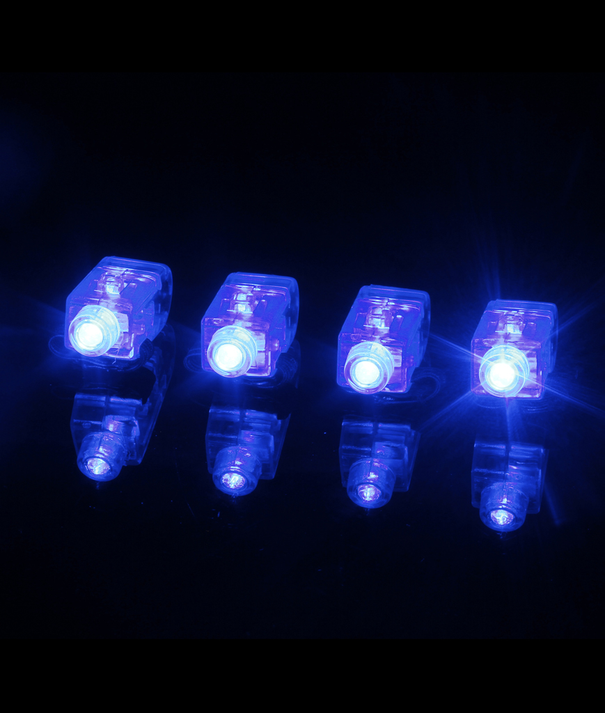 Fun Central T047 LED Light Up Finger Lights - Blue 4ct