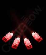 Fun Central T051 LED Light Up Finger Lights - Red 4ct