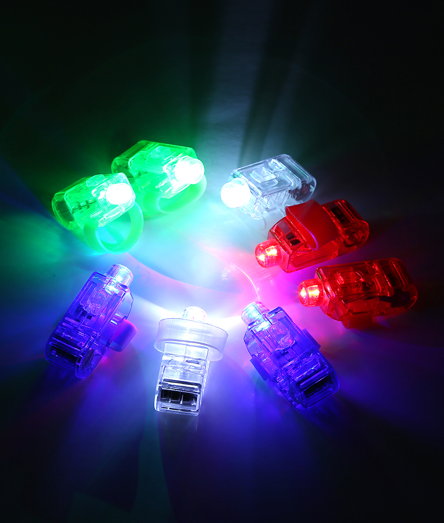 Fun Central AR805 LED Light Up Finger Lights - Assorted 48ct