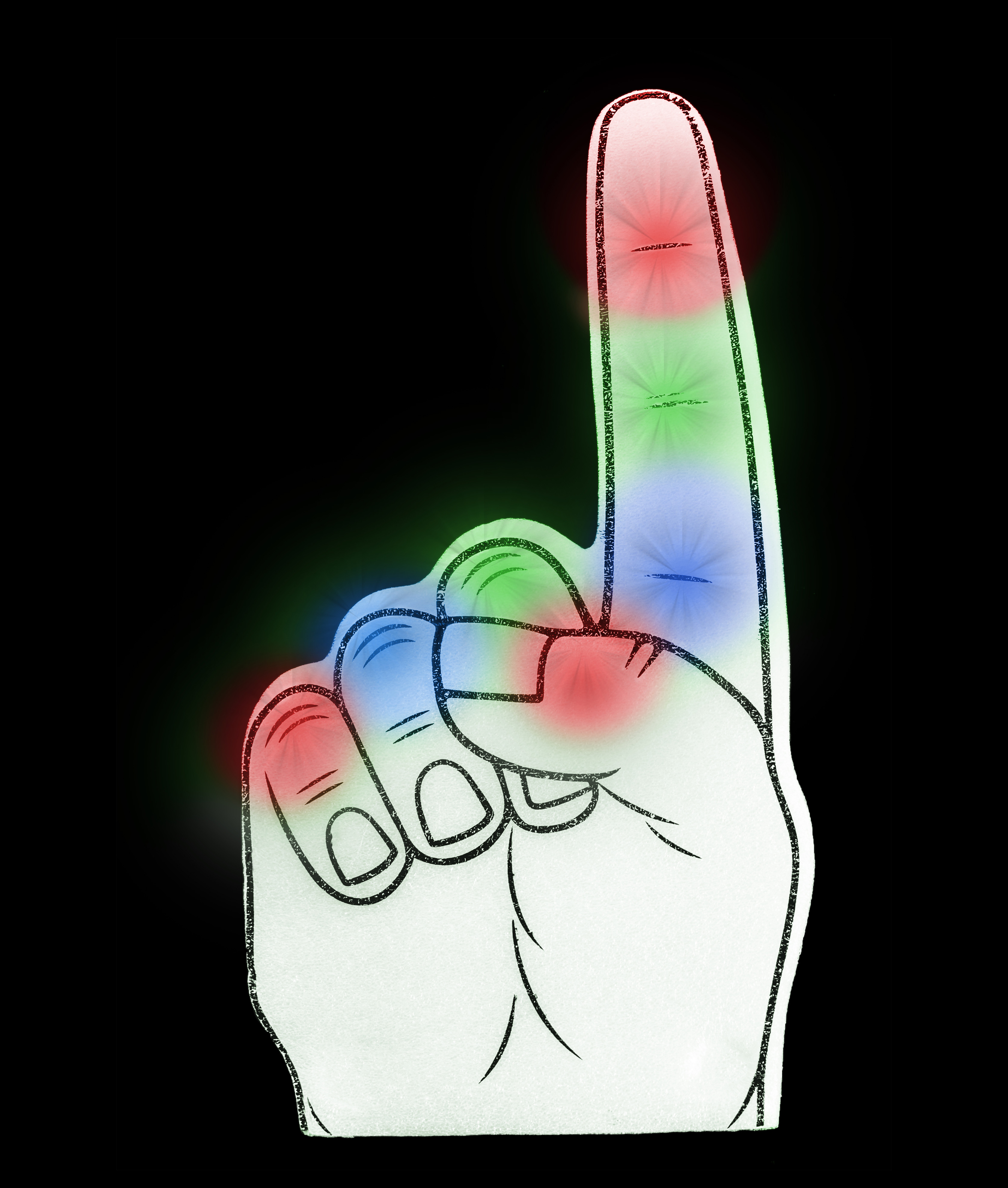 LED Foam Finger - Multicolor