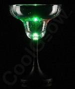 Fun Central P915 LED Light Up Margarita Glass Black Stem - 7 oz.