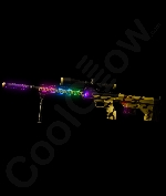 LED 32 Inch Desert Camo Rifle
