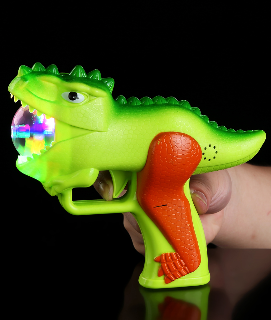 LED Dinosaur Gun with Prism Ball