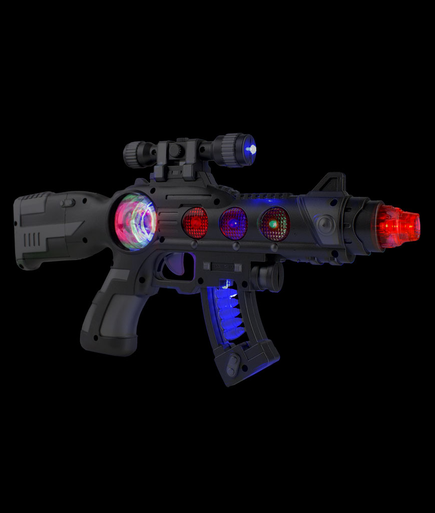 LED Spinning Orb Blaster