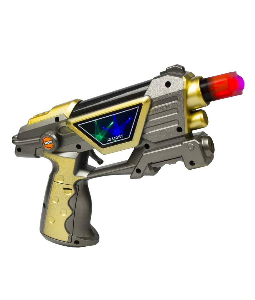 LED 9 Inch Space Pistol - Retail Ready