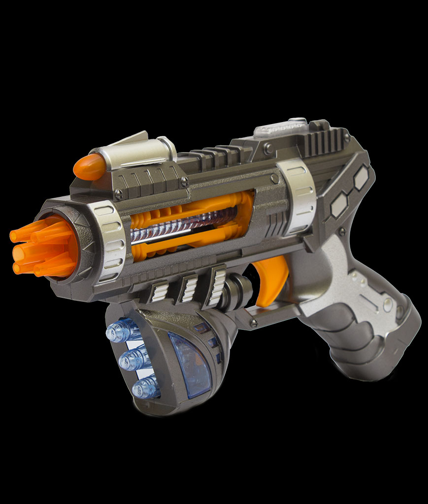 LED 9 inch Revolving Space Pistol