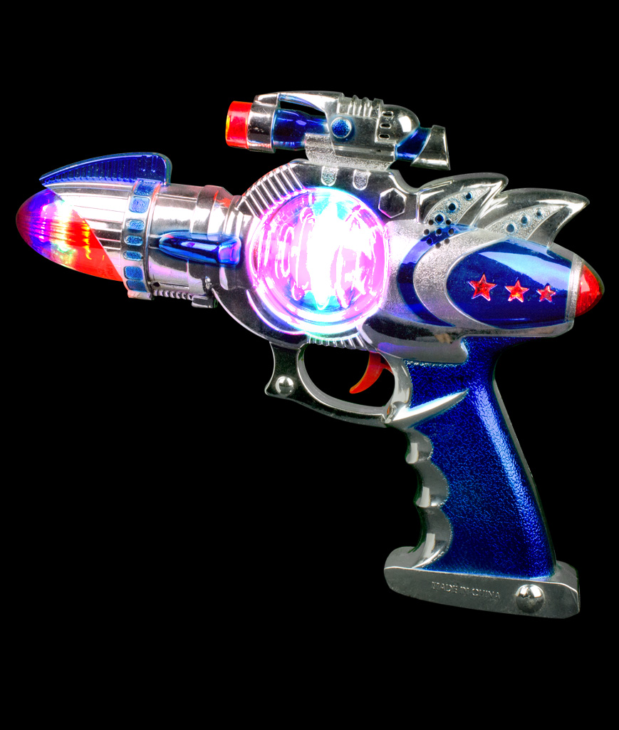 Fun Central AT755 LED Light Up Spinning Space Blaster Gun