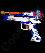 LED 9 Inch Spinning Pistol