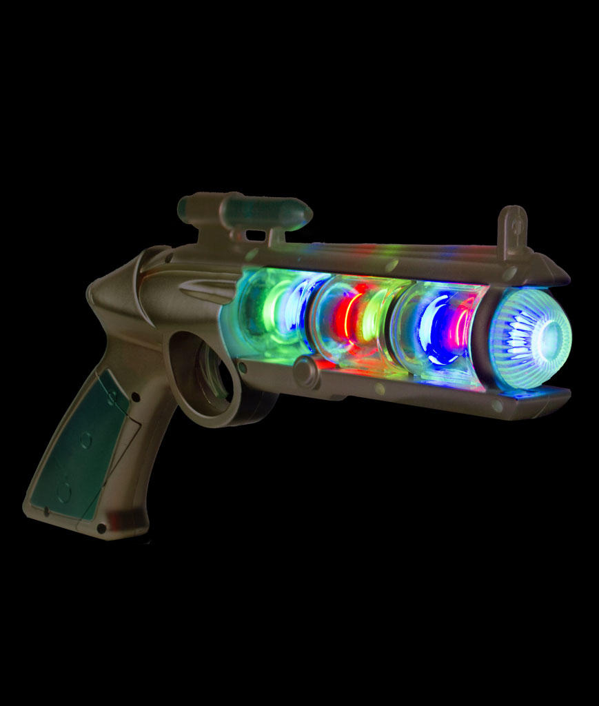 LED Spinning Orb Gun