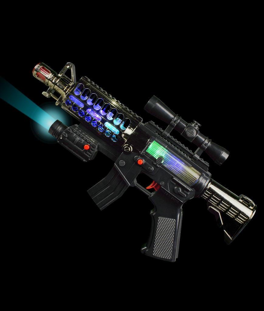 LED Spring Rifle