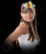 LED Rainbow Sequin Baseball Hat