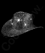 LED Sequin Cowboy Hat with Stitching - Black