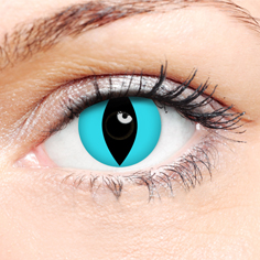 Crazy Halloween Contact Lenses - Aqua Cat