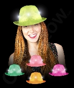 LED Neon Sequin Fedora- Assorted