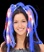 Fun Central R367 LED Light Up Party Dreads - Blue