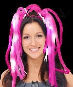 Fun Central R370 LED Light Up Party Dreads - Pink